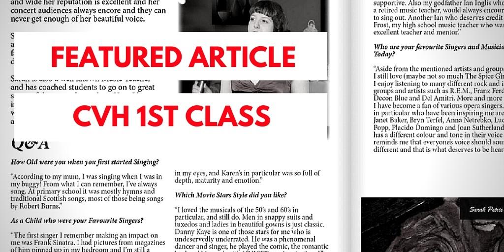 Featured in CVH 1st Class Magazine!